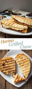 Harissa Grilled Cheese - This grilled cheese sandwich has so much flavor thanks to homemade harissa! I love how spicy/melty/cheesy this is! theliveinkitchen.com