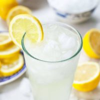 lemonade by the glass with lemon slices
