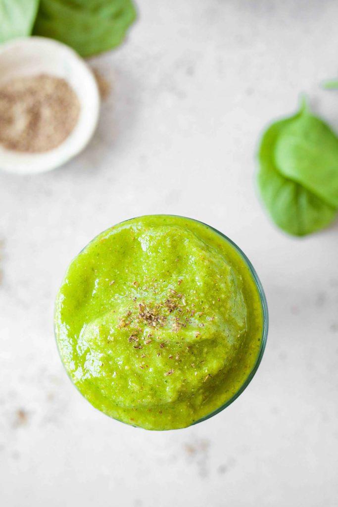 Tropical Green Smoothie | theliveinkitchen.com @liveinkitchen