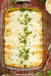Vegetarian Enchiladas with Poblano Cream Sauce - Flour tortillas filled with pinto beans, corn, cheese, and spices, and smothered with a rich poblano cream sauce. Full recipe at theliveinkitchen.com @liveinkitchen