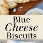 Blue Cheese Biscuits - Tender, flaky biscuits that pack huge flavor from two types of blue cheese! Full recipe at theliveinkitchen.com @liveinkitchen #biscuits #Thanksgiving #bluecheese