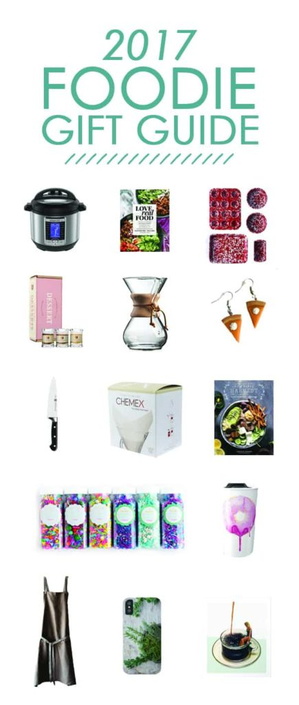 A gift guide for the food lover in your life! Affordable gift options that will delight your favorite foodie. Links to everything on theliveinkitchen.com