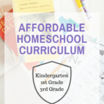 I'm sharing everything we use for affordable homeschool curriculum. With kids in kindergarten, first grade, and third grade, we need to keep homeschool inexpensive!
