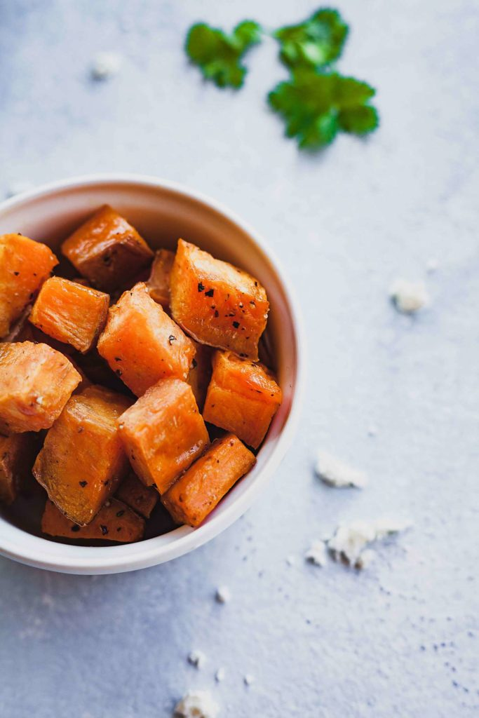 small bowl with sweet potatoes