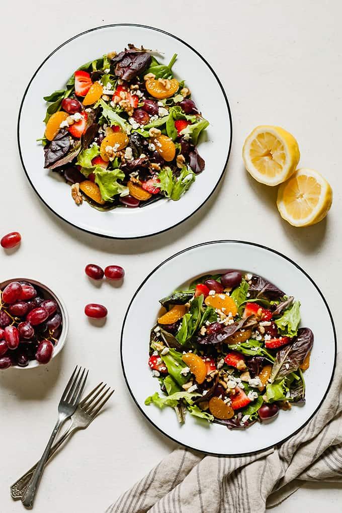 Summer Salad with Fruit - #salad #dinner #lunch #summer #fruit