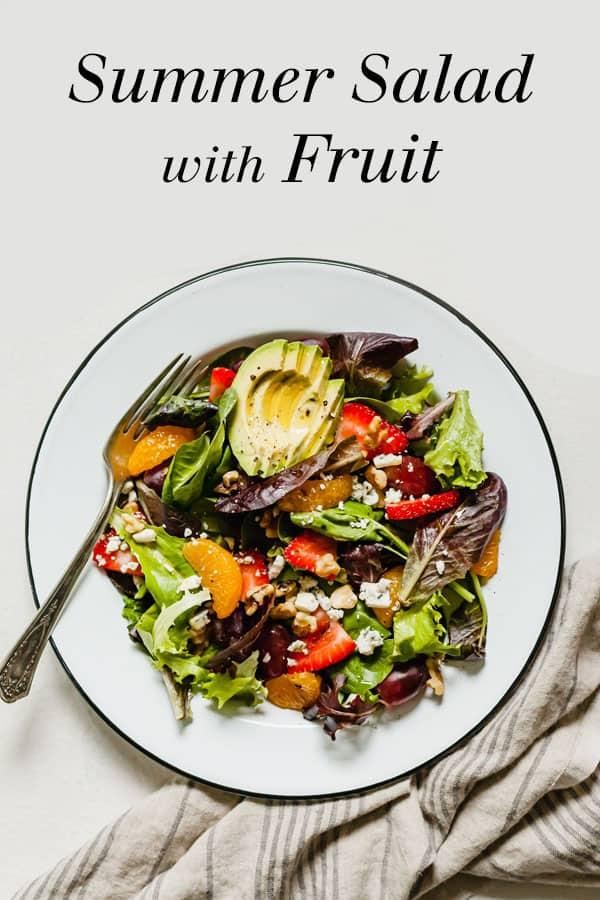 pinterest image for summer salad with fruit