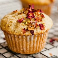 Perfect Pistachio Rose Muffins