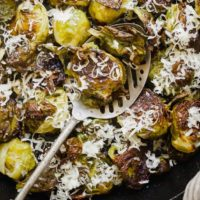 Roasted Brussels Sprouts with Parmesan