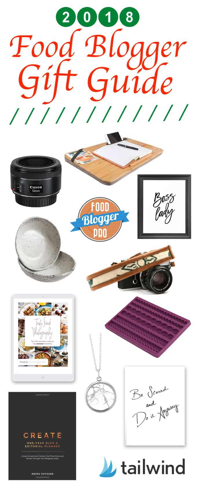 collage of images from the blogger gift guide 2018