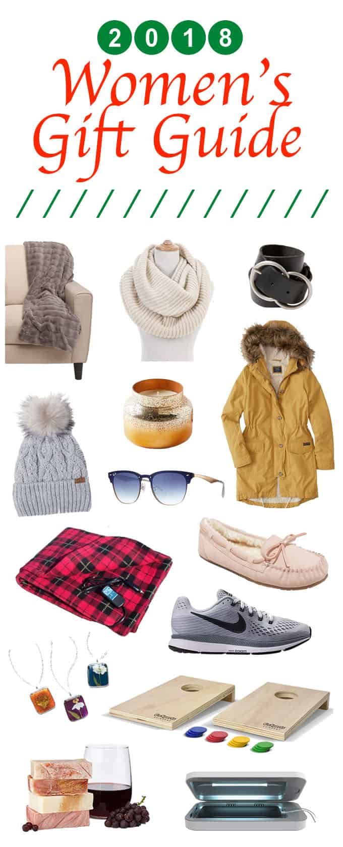 collage of women's gift guide 2018