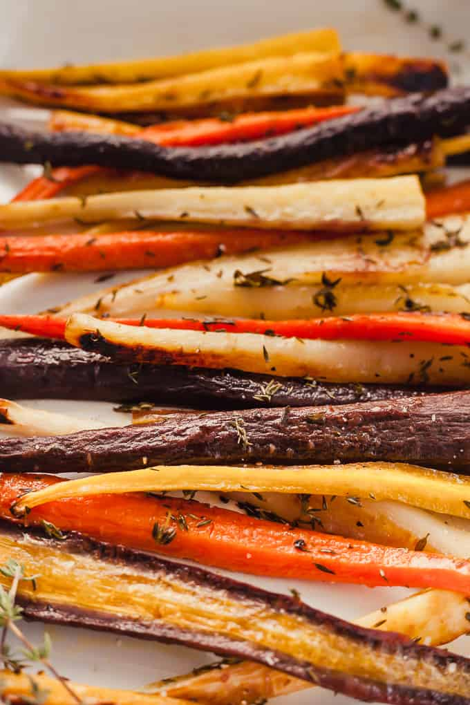 oven roasted carrots with thyme