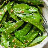 garlic ginger snow peas