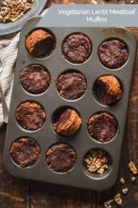 vegetarian lentil meatloaf muffins