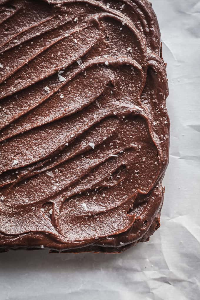 sweet potato brownies with sweet potato frosting