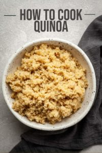 pinterest image for how to make quinoa