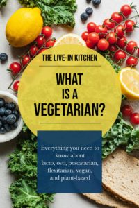 pinterest image for what is a vegetarian article