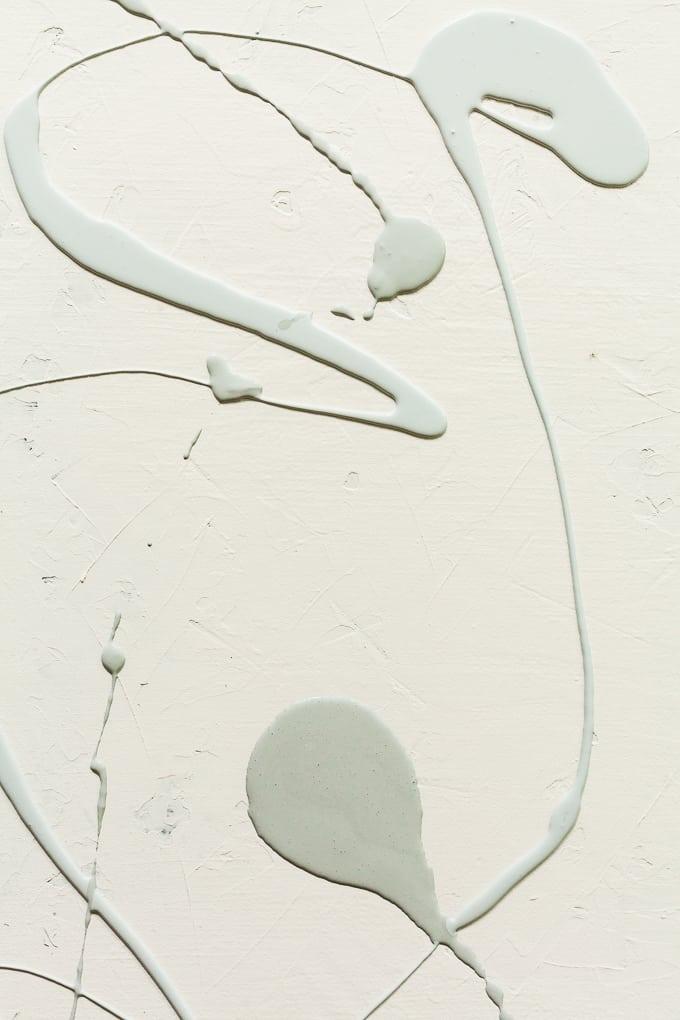 paint swirls on a white board