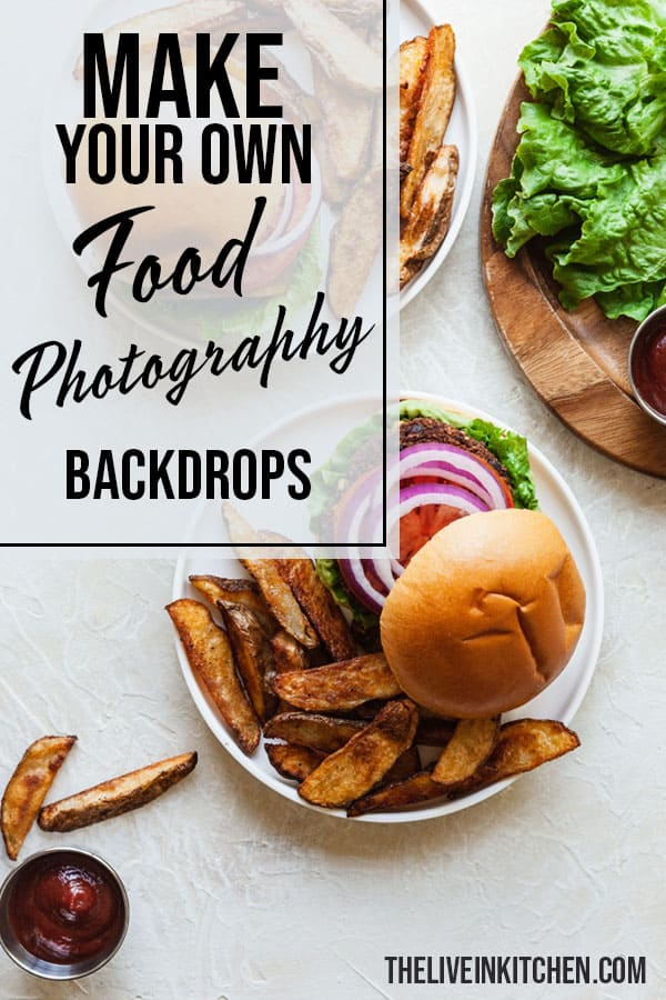 pinterest image for diy food photography backdrops