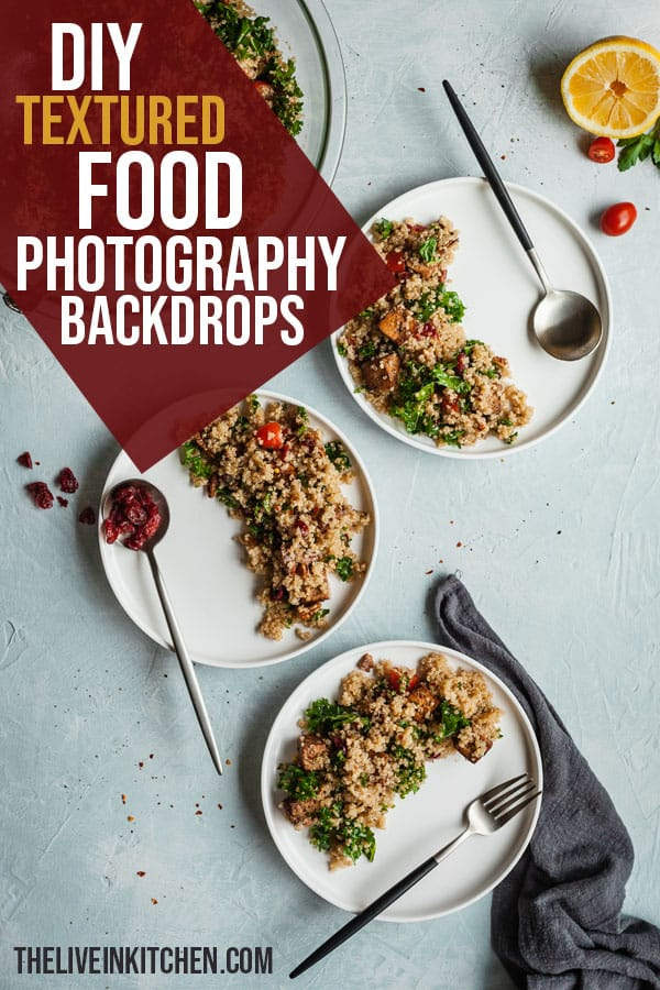 pinterest image for diy textured food photography backgrounds