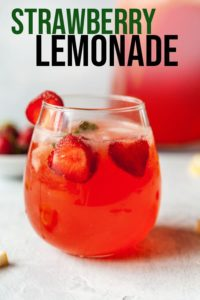 pinterest image for strawberry lemonade