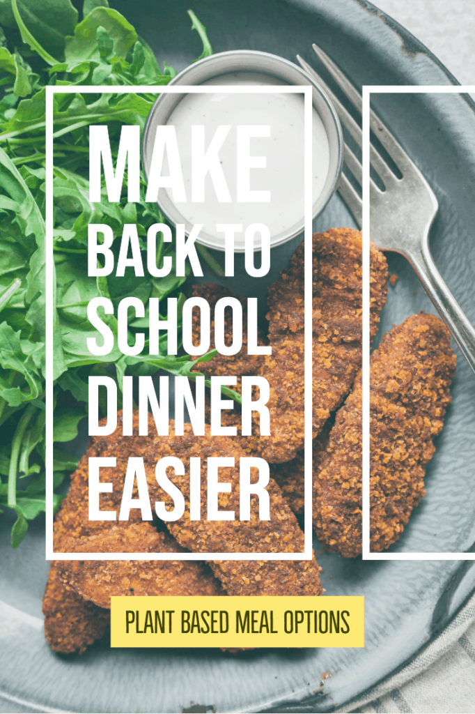 pinterest image for easy back to school dinners