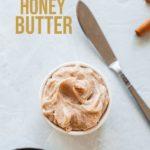 pinterest image for cinnamon honey butter