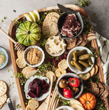 a fall cheese board