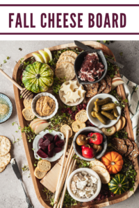 pinterest image for fall cheese board