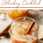 pinterest image for apple cider cocktails