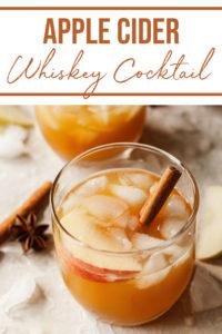 pinterest image for apple cider cocktails