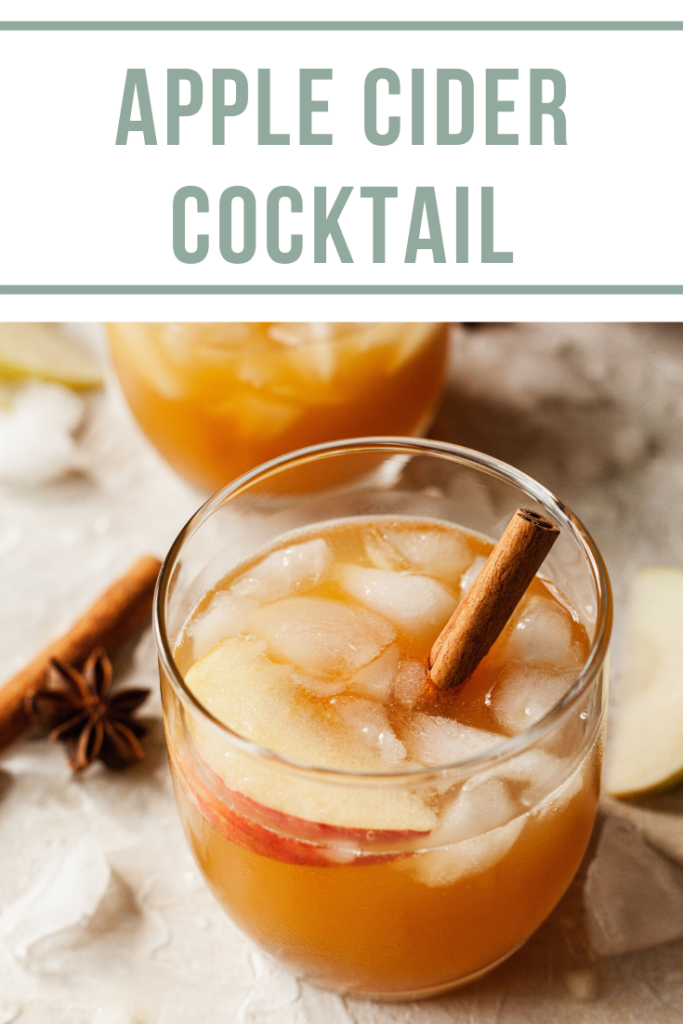 pinterest image for apple cider whiskey cocktail