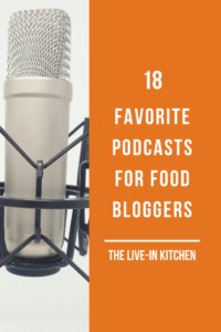 pinterest image for favorite podcasts for food bloggers