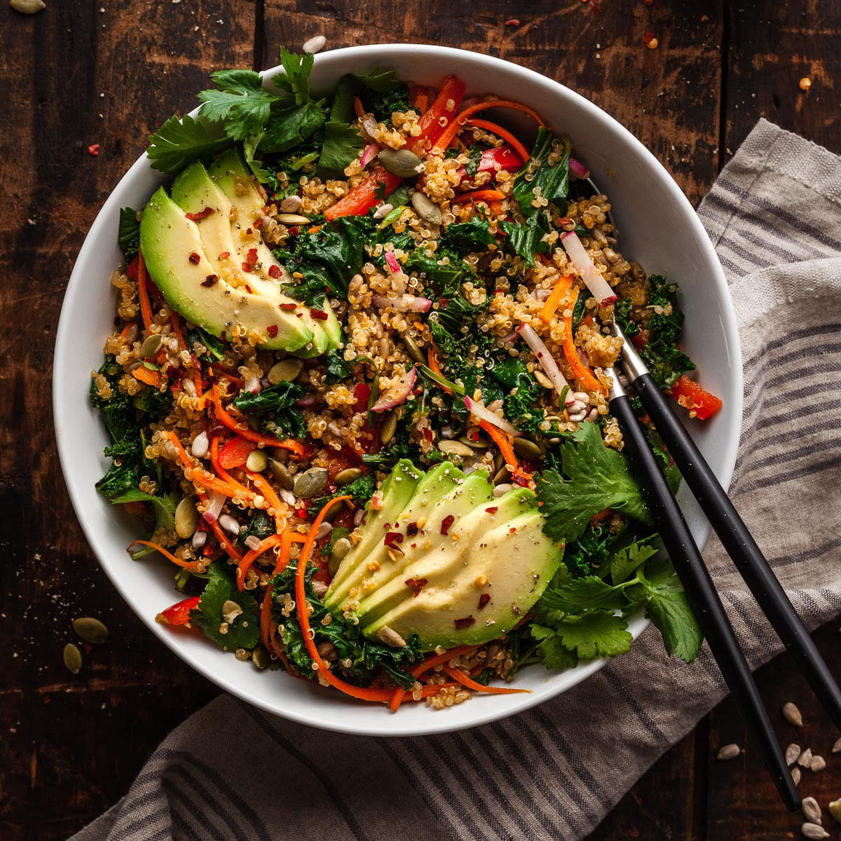 Warm Kale And Quinoa Salad The Live In Kitchen