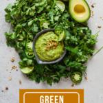 pinterest image for green avocado sauce