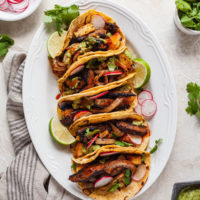 sheet pan veggie tacos