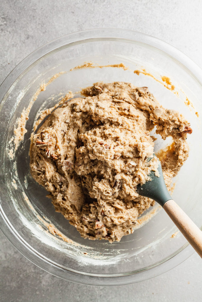 apple spice muffin batter after mixing