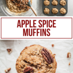 pinterest image for apple spice muffins