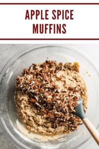 apple cinnamon muffin batter