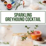 pinterest image for sparkling greyhound cocktail