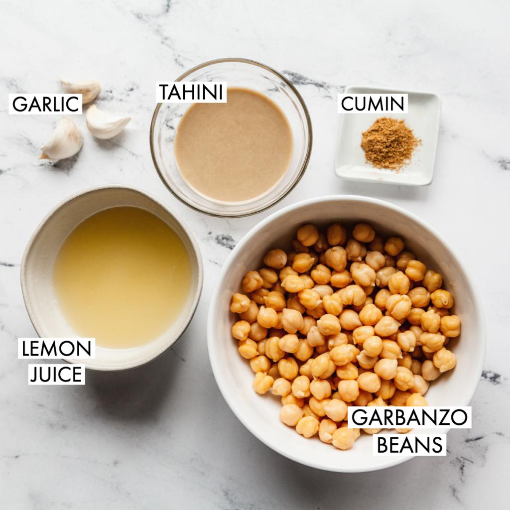 ingredients for basic hummus