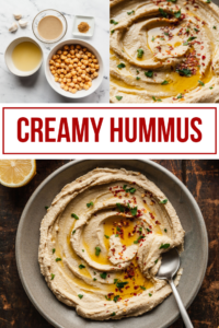 pinterest image for basic hummus