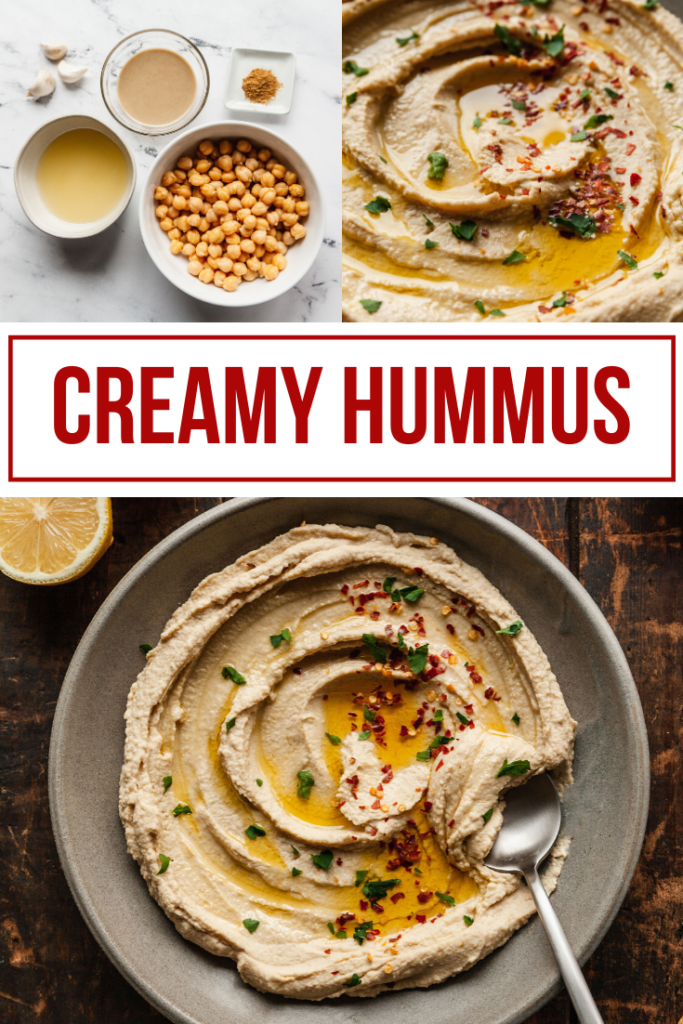 pinterest image for basic hummus