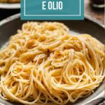 pinterest image for spaghetti aglio olio