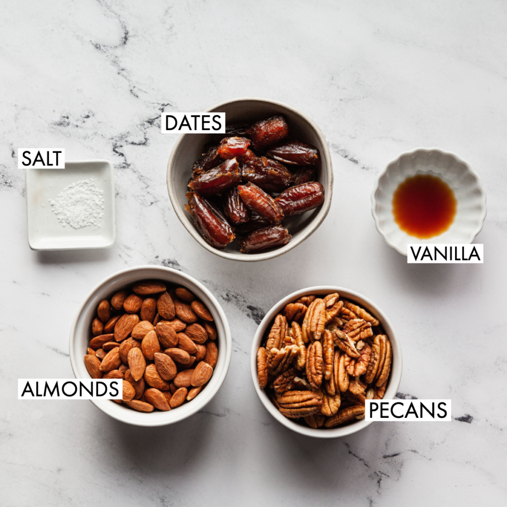 ingredients for pecan pie larabars