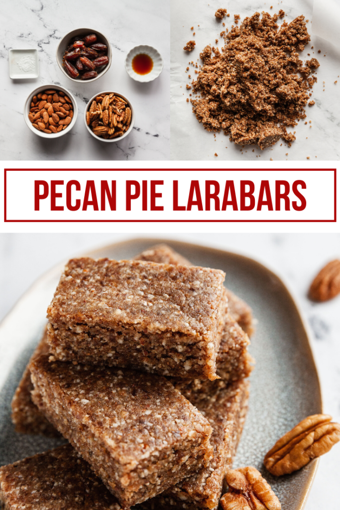 pinterest image for pecan pie larabars