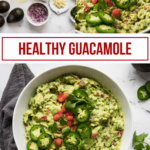 pinterest collage for healthy guacamole