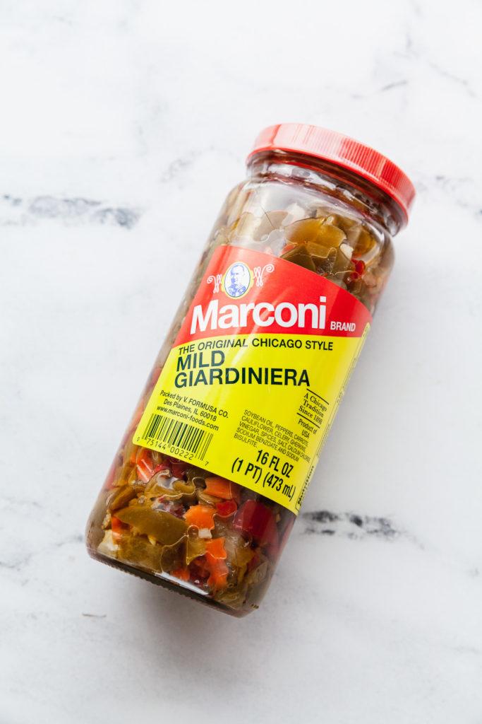 giardiniera in a jar