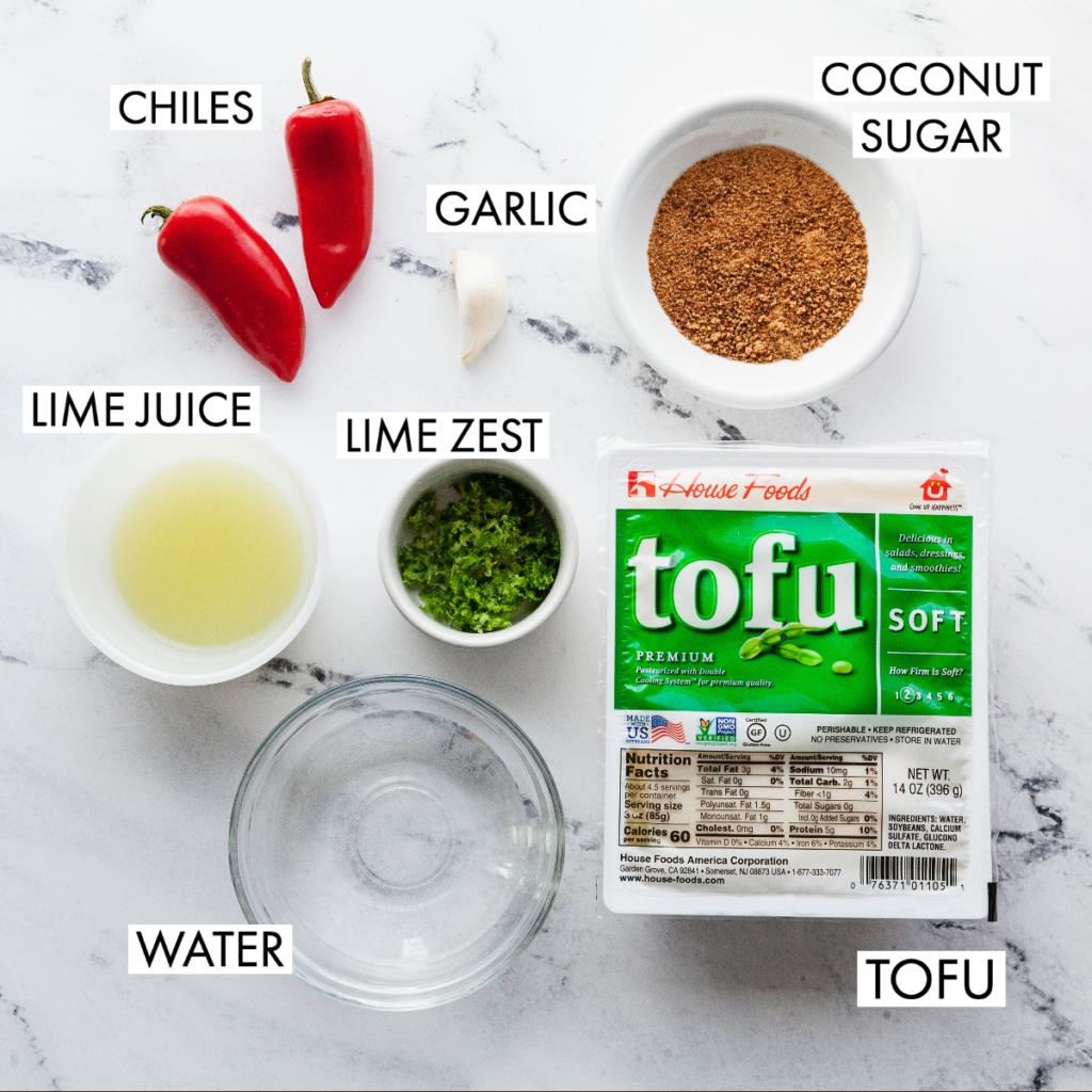 ingredients for thai tofu sauce
