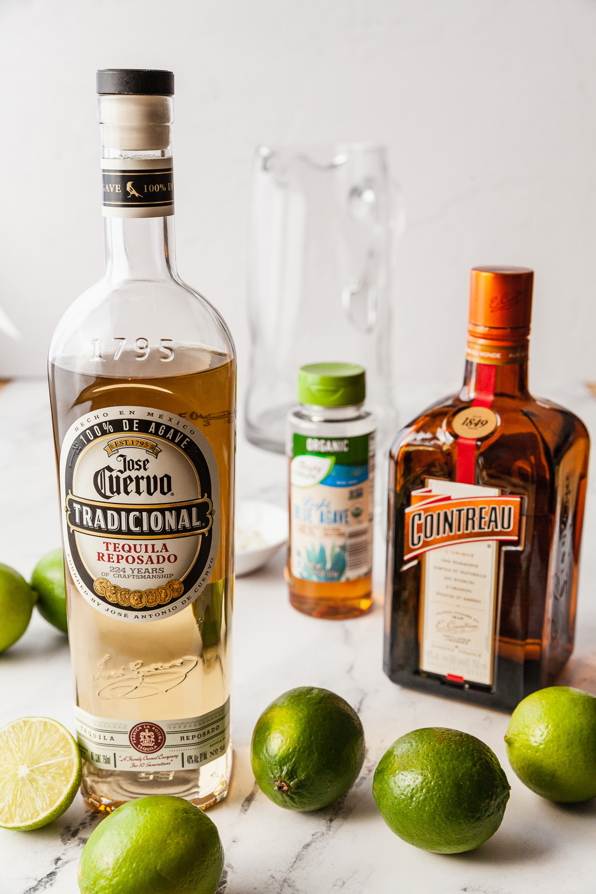 ingredients for margarita pitchers