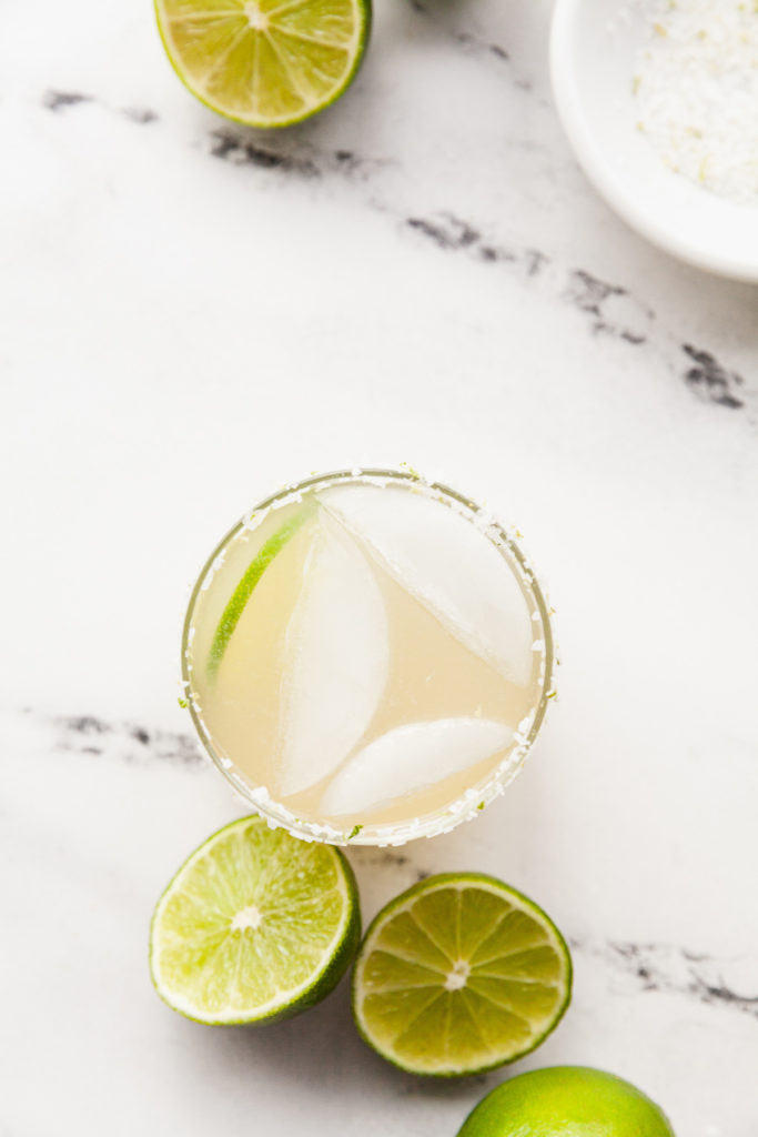 margarita in salted glass
